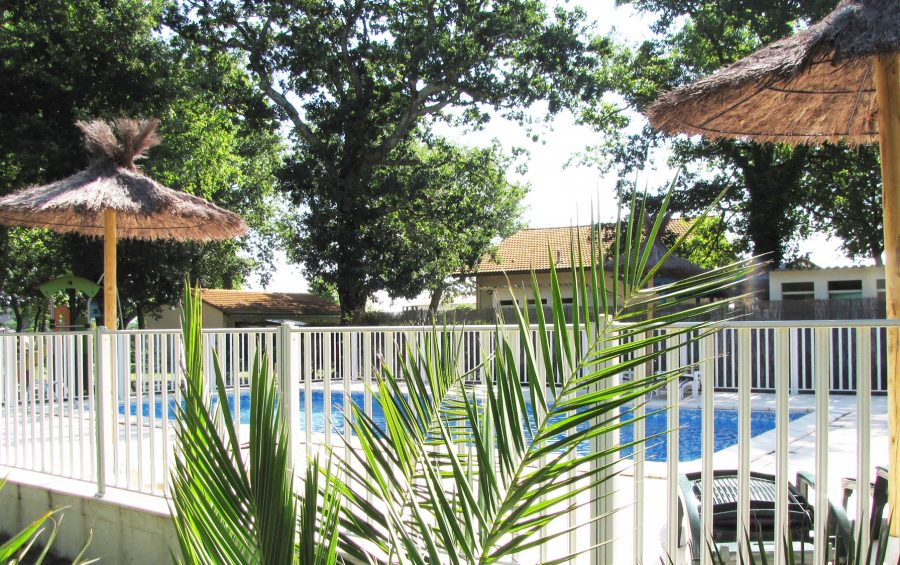 swimming pool 2-star campsite pitches aquitaine